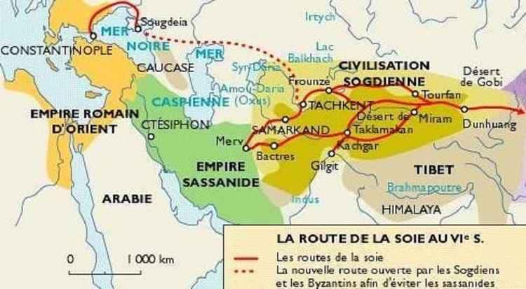Les pistes de la soie en Sogdiane