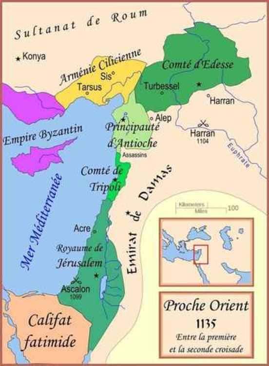 Les États latins d'Orient au XII ème siècle
