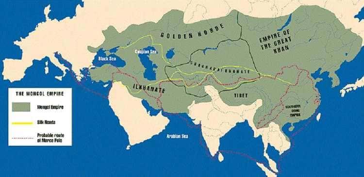 L'empire Mongol et l'expédition de Marco Polo