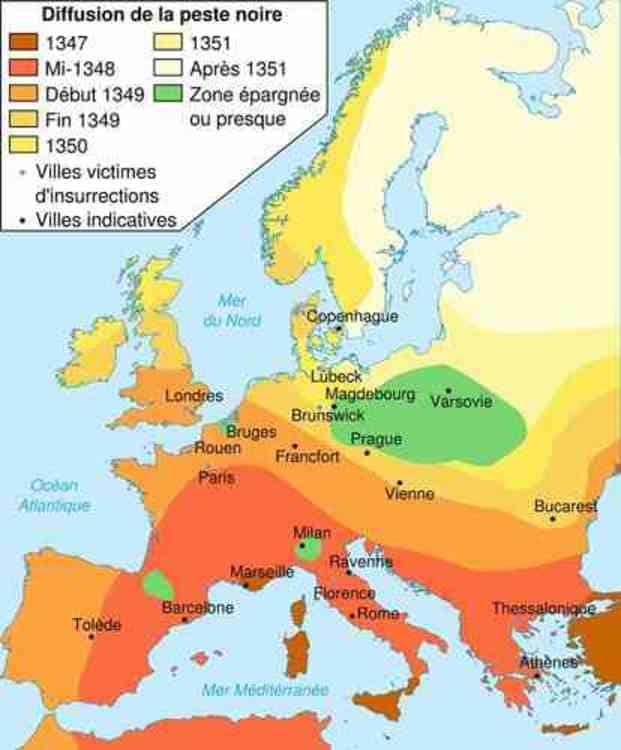 La peste noire au XIV ème siècle