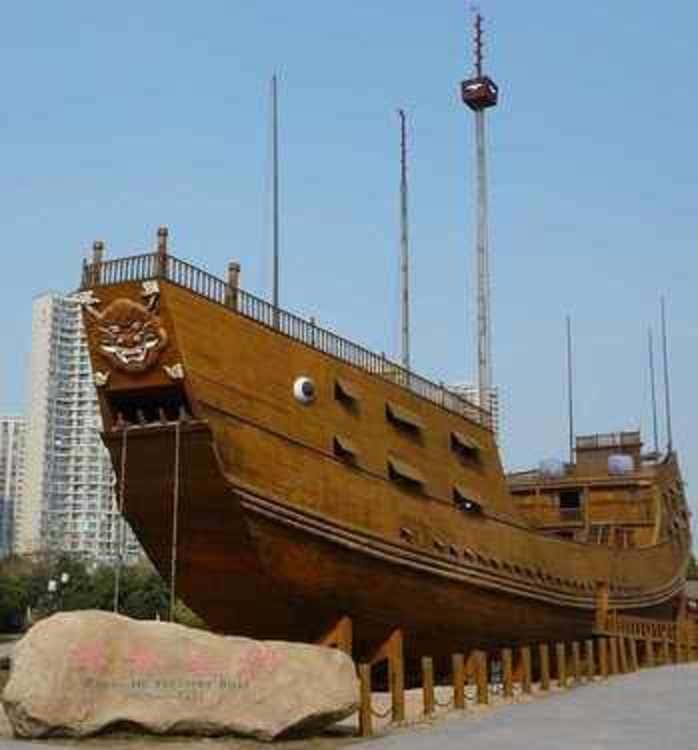 Un Chinese treasure ship
