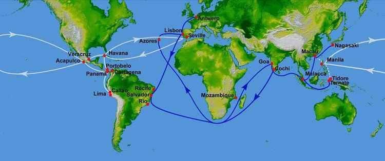 Les voies maritimes commerciales au XVI ème siècle