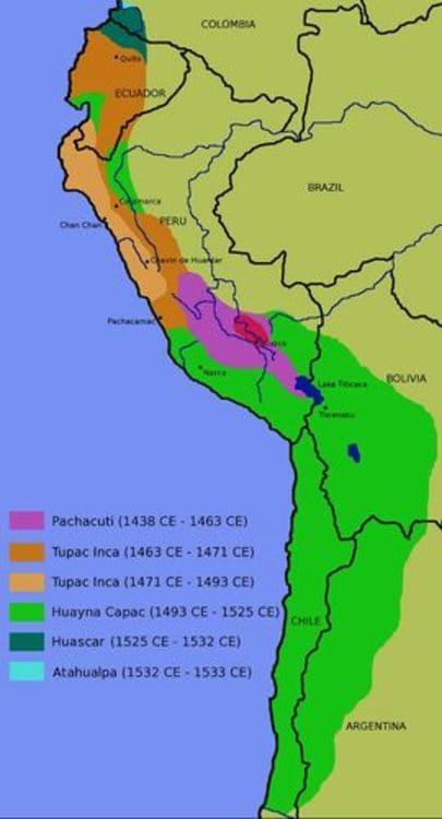 L'expansion territoriale inca