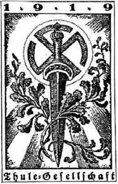 Le symbole de l'association Thule-Gesellschaft