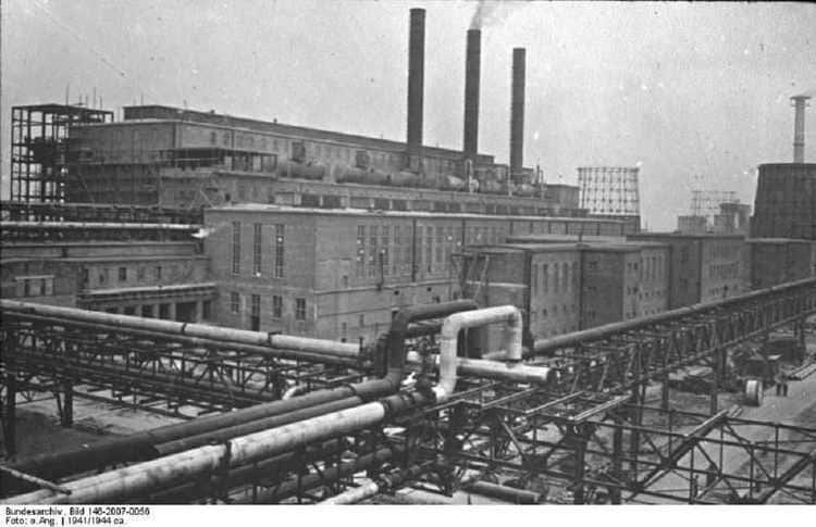 L'usine IG Farben au camp de Monowitz-Buna à Auschwitz