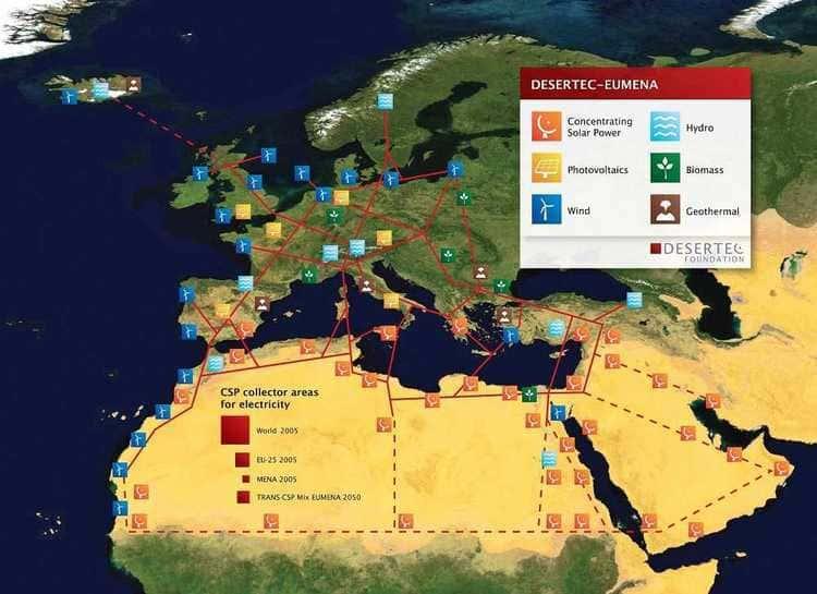 Le réseau DESERTEC de production et de distribution d'énergies renouvelables