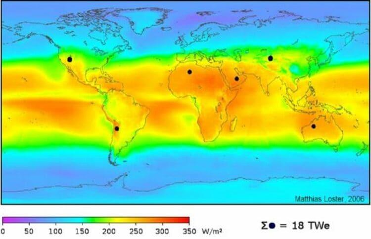 La mesure du rayonnement solaire en mégajoules par mètre carré