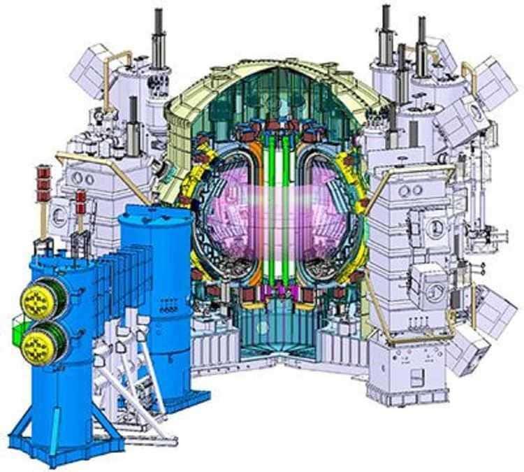 Le schéma du Tokamak japonais JT-60