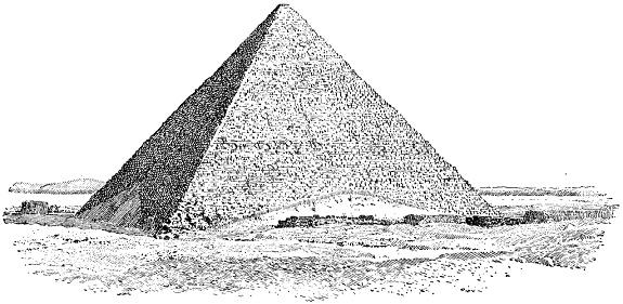 La grande pyramide de Gizeh à faces lisses (2 560 AEC)