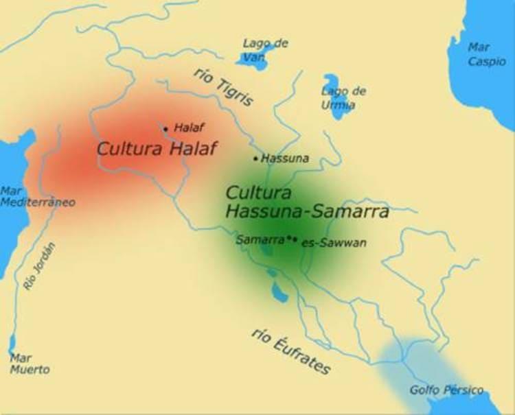 les cultures Hassuna, Samarra et Halaf