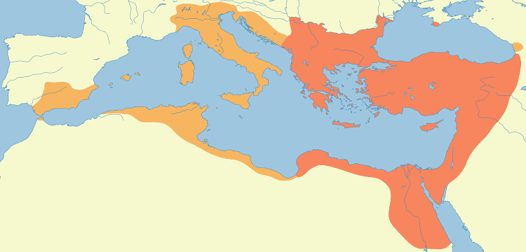 Le royaume byzantin de Justinien I er